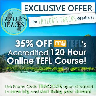 Taylors Tracks Sidebar TEFL Discount www.taylorstracks.com