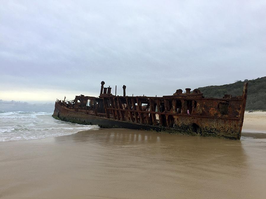 Maheno Ship Wreck Fraser Island www.taylorstracks.com