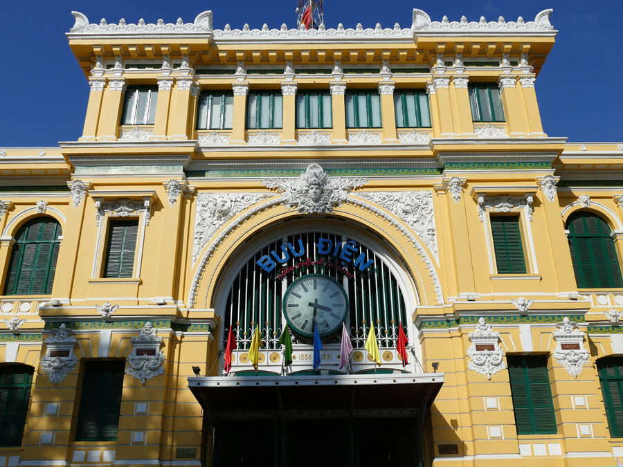Ho Chi Minh City Vietnam travel | Ho Chi Minh Central Post Office | Things to do in Ho Chi Minh