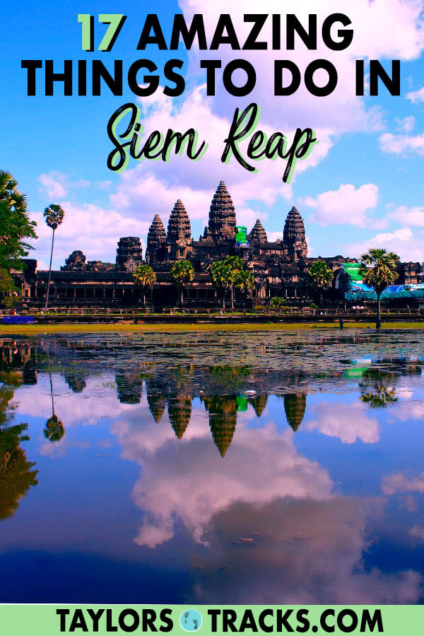 A Cambodia trip is not possible without visiting Siem Reap, the city that is home to Angkor Wat. There are so many more things to do in Siem Reap other than temples, and with this Siem Reap travel guide you'll find the best things to do in Siem Reap that will help you make the perfect Siem Reap itinerary. Click to start planning your Siem Reap trip! #angkorwat #travel #budgettravel