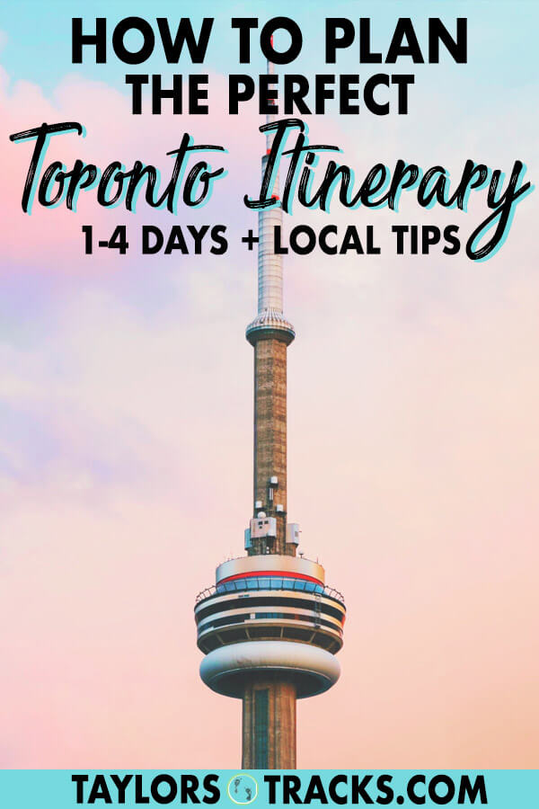 Discover one of Canada's top cities, Toronto with this easy and customizable Toronto itinerary that will give you ideas for 1-4 days in the city. Find the top things to do in Toronto, where to stay in Toronto, Toronto tips and more. #toronto #canada #travel