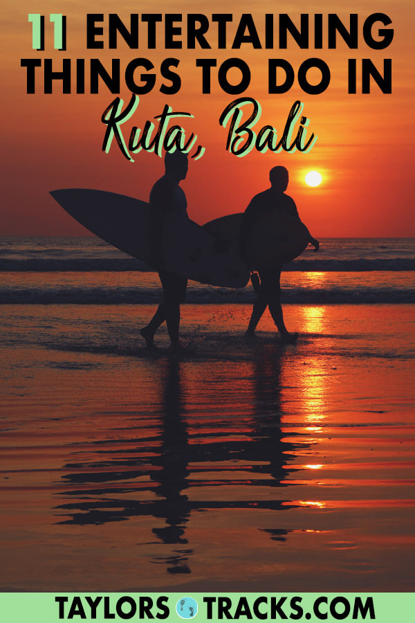 There is so much to know about Bali travel as there are many destinations. But this list of the best things to do in Kuta will help you plan the perfect Kuta itinerary as a part of your dream Bali itinerary. This Kuta travel guide will make sure you have the best time. Click to start planning your Kuta trip! #bali #travel #budgettravel #islandlife #indonesia #surfing #sunset