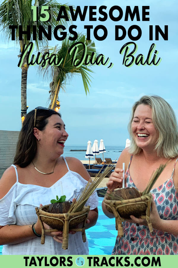 Nusa Dua Bali isn't just the resorts (though those are pretty great too). There are a number of things to do in Nusa Dua that will get you off your resort and exploring Bali. Add Nusa Dua to your Bali trip if you want to chill, see white sand beaches and have some culture at your fingertips. #nusadua #bali #indonesia #beaches #island #travel