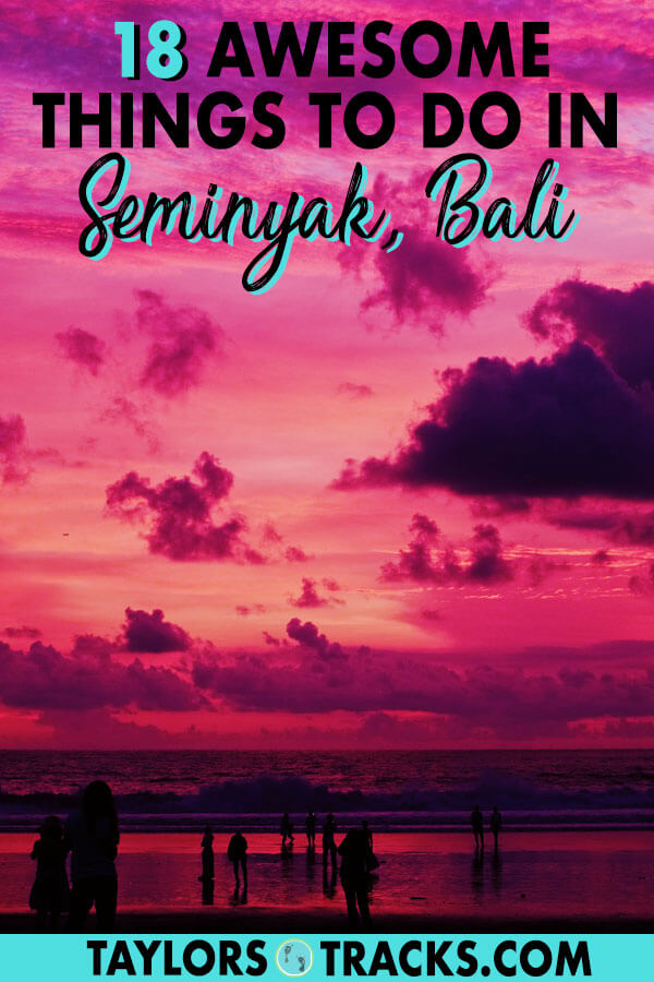 Seminyak Bali is a top area for luxury lovers, shopping, great beaches and trendy cafes. There are plenty of things to do in Seminyak for it to be a visit or a place to base yourself in Bali. Click to get the top Seminyak activities and Seminyak attractions for your budget. #travel #seminyak #bali #indonesia #southeastasia