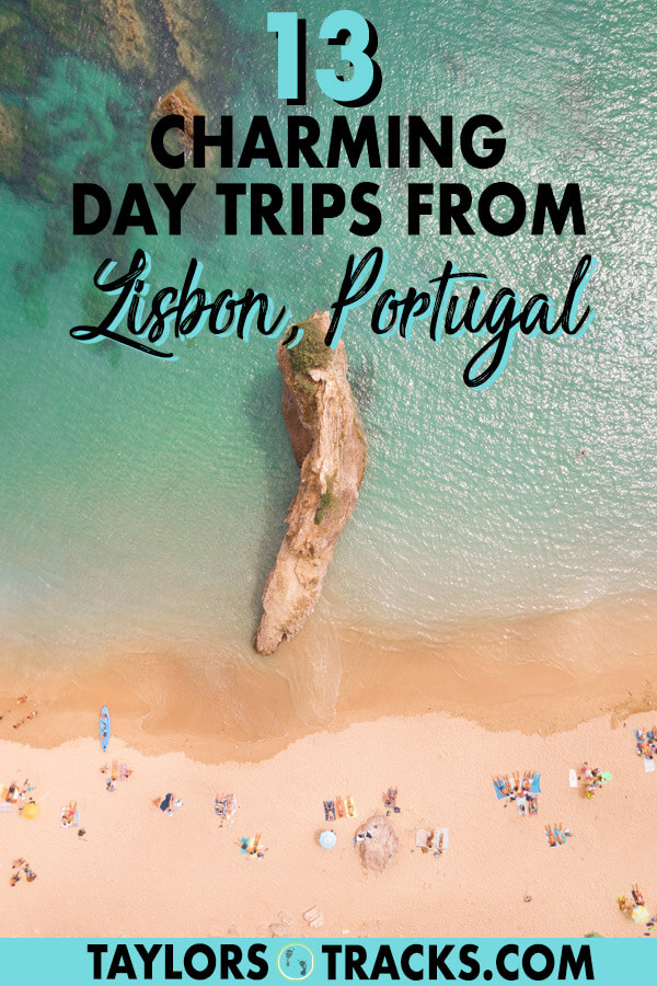 These charming Lisbon day trips are going to make you want to add a day or two to your Portugal trip. Click to find the perfect day tour for history, architecture, beaches, water adventures and wine tastings. #portugal #lisbon #sintra #beach #travel #europe