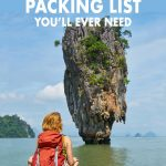 This ultimate Southeast Asia packing list for women covers everything from the basics to electronics. Click to find out how many clothes to bring, what kind of shoes and more Southeast Asia travel tips to help your trip go smoothly. You can't go wrong with this Southeast Asia packing list.