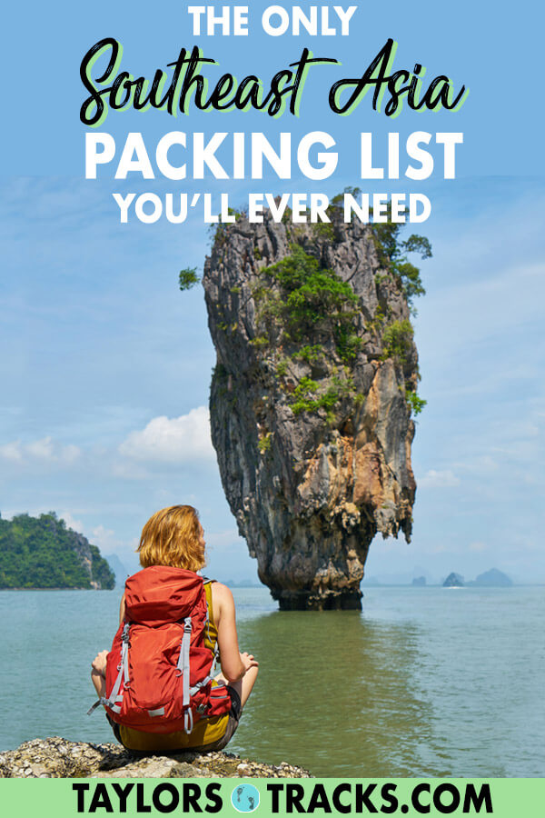 This ultimate Southeast Asia packing list for women covers everything from the basics to electronics. Click to find out how many clothes to bring, what kind of shoes and more Southeast Asia travel tips to help your trip go smoothly. You can't go wrong with this Southeast Asia packing list. #budgettravel #traveltips #packing #southeastasia #travel