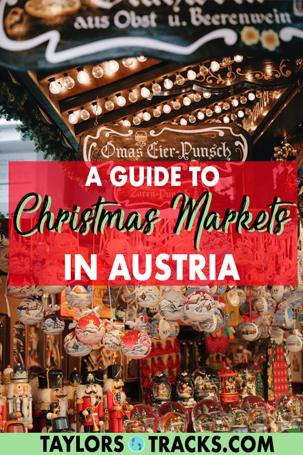 Some of the best Christmas markets in Europe are in Austria. Luckily, Austria is small and many of the markets can be visited without travelling far. The most famous are the Christmas markets in Vienna but I've also included Salzburg, Innsbruck and Graz Christmas markets so that you can create the ultimate Austria trip filled with pretty cities. #christmas #christmasmarkets #europe #austira #vienna #slazburg #graz #innsbruck