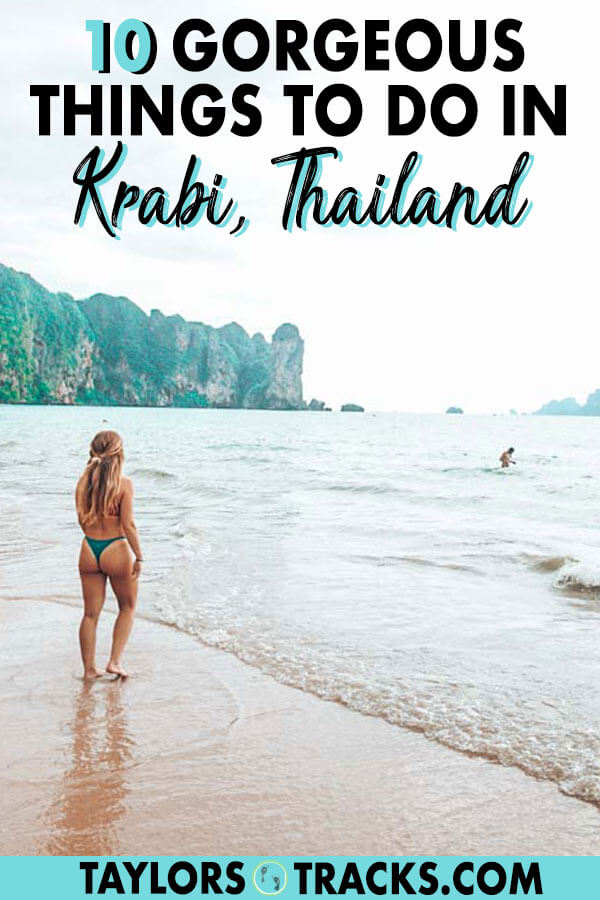 Add these things to do in Krabi, Thailand to your Krabi itinerary to have an epic few days doing some Thai island hopping, watching jaw-dropping sunsets and lazing on the beach. Add Krabi to your Thailand itinerary and you won't regret it! #thailand #travel #krabi #island #beach