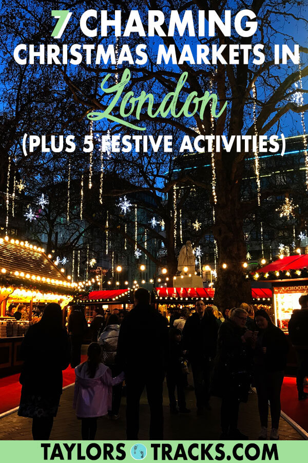 Enjoy Christmas in London with these festive activities that include Christmas lights in London, Christmas markets in London, ice skating, Christmas themed teas and more! #london #england #uk #europe #travel #christmas