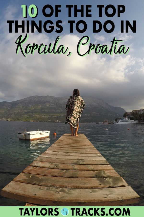 Korcula island has become favourite for visitors to come to when in Croatia so don't miss an opportunity to visit one of the most beautiful places in the country. I've got you covered with the top things to do in Korcula. #korcula #croatia #europe #travel #island #beach