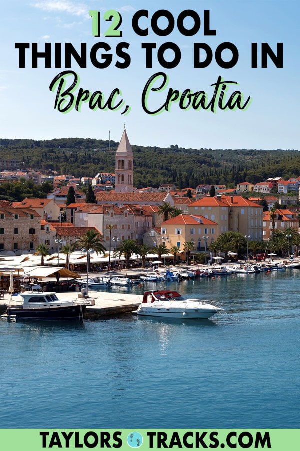 Brac island is a beautiful destination that I suggest adding to your Croatia trip. There are a number of things to do in Brac that aren't just about Croatia beaches. Get ready for some history and delicious food too. #brac #island #beach #croatia #europe #travel #balkans