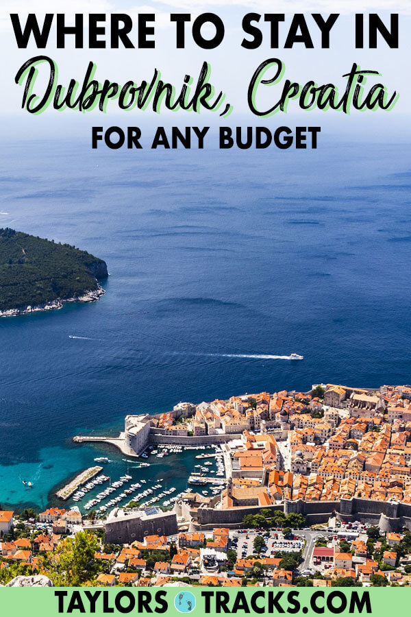 No matter what you're looking for, a Dubrovnik hotel or a Dubrovnik hostel, this guide on where to stay in Dubrovnik will help you find the perfect area to stay in for your budget so you can have the perfect Croatia trip. #croatia #europe #dubrovnik #travel #budgettravel