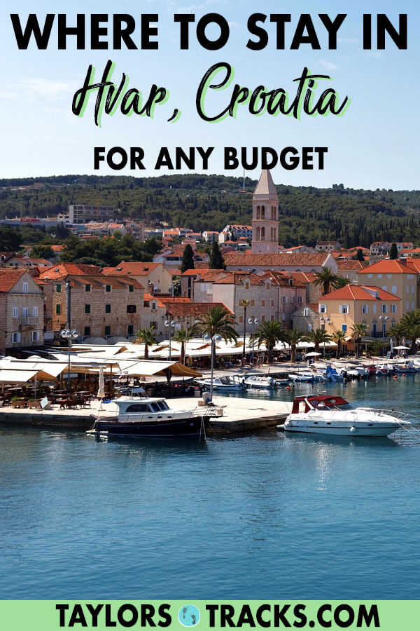 Decide where to stay in Hvar with this simple Hvar accommodation guide that will guide you to the best area, Hvar hotel or Hvar hostel depending on your budget. #hvar #croatia #europe #travel