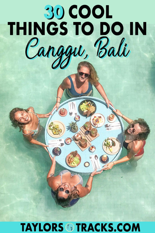 Canggu, Bali is a hot spot for vacationers and digital nomads alike. The beachy, laid back vibes of this area in Bali is the perfect place to relax and is a must visit on any Bali trip so be sure to add Canggu to your Bali itinerary! I share the best things to do in Canggu whether you're staying long or short term. #canggu #bali #indonesia #southeastasia #asia #travel #digitalnomad