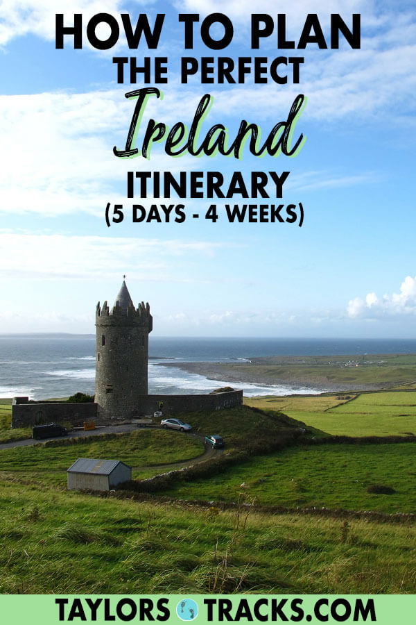 Planning a trip to Ireland can be daunting with so many beautiful places to see in Ireland. This ultimate Ireland guide will help you plan the ideal Ireland itinerary for your budget and the amount of time you have to visit Ireland. #ireland #europe #travel #castle