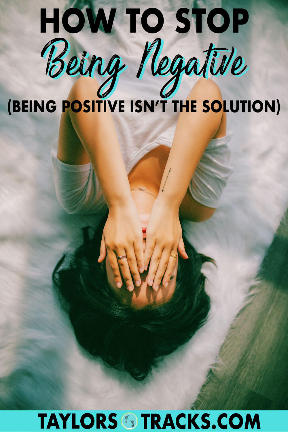 Learn how to get over negative thoughts in a healthy way and become a happier person with these mindset tips that will help you develop some self awareness. Click to learn how to stop being negative!