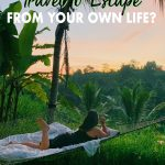 Have you ever wanted to travel to escape life? Do you think it's worth it? As someone who did, I don't think it is and in the long run it hurt me more than it did good. Click to read how one travel blogger encourages you to travel for expansion versus escapism.
