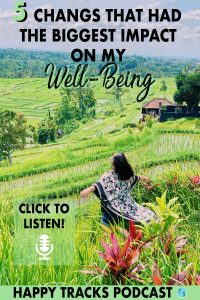 Improving your well-being is so much more than just your health. These 5 changes that I made I believe will help you too with your happiness, your health mentally and physically and will help you live your best life because you'll feel so damn good.