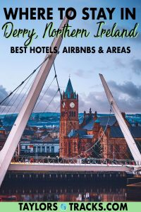Find the best places to stay in Derry, Northern Ireland with this handy and straight-forward accommodation guide. From the top Derry hotels to Airbnbs and for all budgets, this guide has got you covered for your trip to Derry and Northern Ireland! Click to find where to stay in Derry!