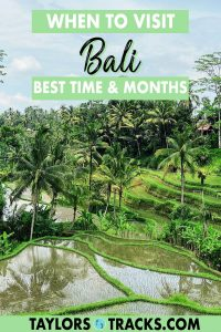 Bali is a destination that can be visited year round, but when is the best time to visit Bali? That depends on your budget, on whether you want to avoid crowds, go surfing, sightseeing or chasing waterfalls. The best time of year to visit Bali is determined by weather, so click to find out the best time to travel to Bali and start planning your trip to Bali!
