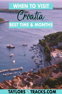 The perfect trip to Croatia won't happen without finding the best time to visit Croatia for your budget, weather, and Croatia itinerary. From the Adriatic Coast to waterfalls and national parks inland, finding the best time to travel to Croatia is essential so that you can do and see every thing that you want to do in Croatia! Click to find best time to go to Croatia!