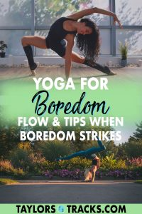 Trying switching up your yoga practice to cure any yoga boredom with these yoga tips and a yoga for boredom flow that will challenge you and get you moving. Click to learn how to make your yoga practice more exciting again!