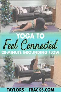 A yoga for connection flow to assist you in coming back to yourself. Connect to yourself, mind, and body through breath and movement in a grounding yoga practice. Click to join in a yoga to feel connected sequence!