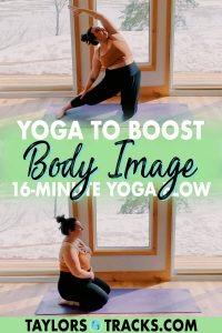 This yoga for body image flow will help to boost your confidence, self-esteem, and inner wisdom. Join me for a quick 16-minute yoga practice that will help you gain appreciation for your body, release negative thoughts about how you look, and move through some juicy side stretches. Click to join the yoga practice!